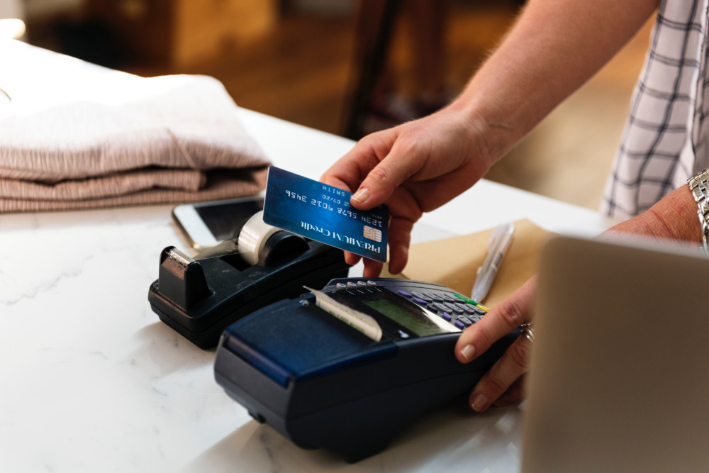 Photo of someone paying